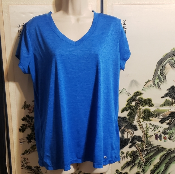 Blue short sleeve top by Excursion